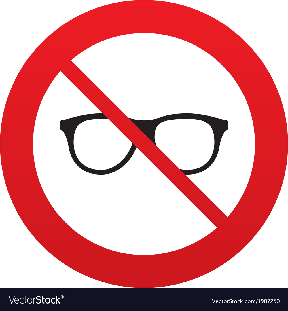 No retro glasses sign icon eyeglass frame symbol vector | Price: 1 Credit (USD $1)