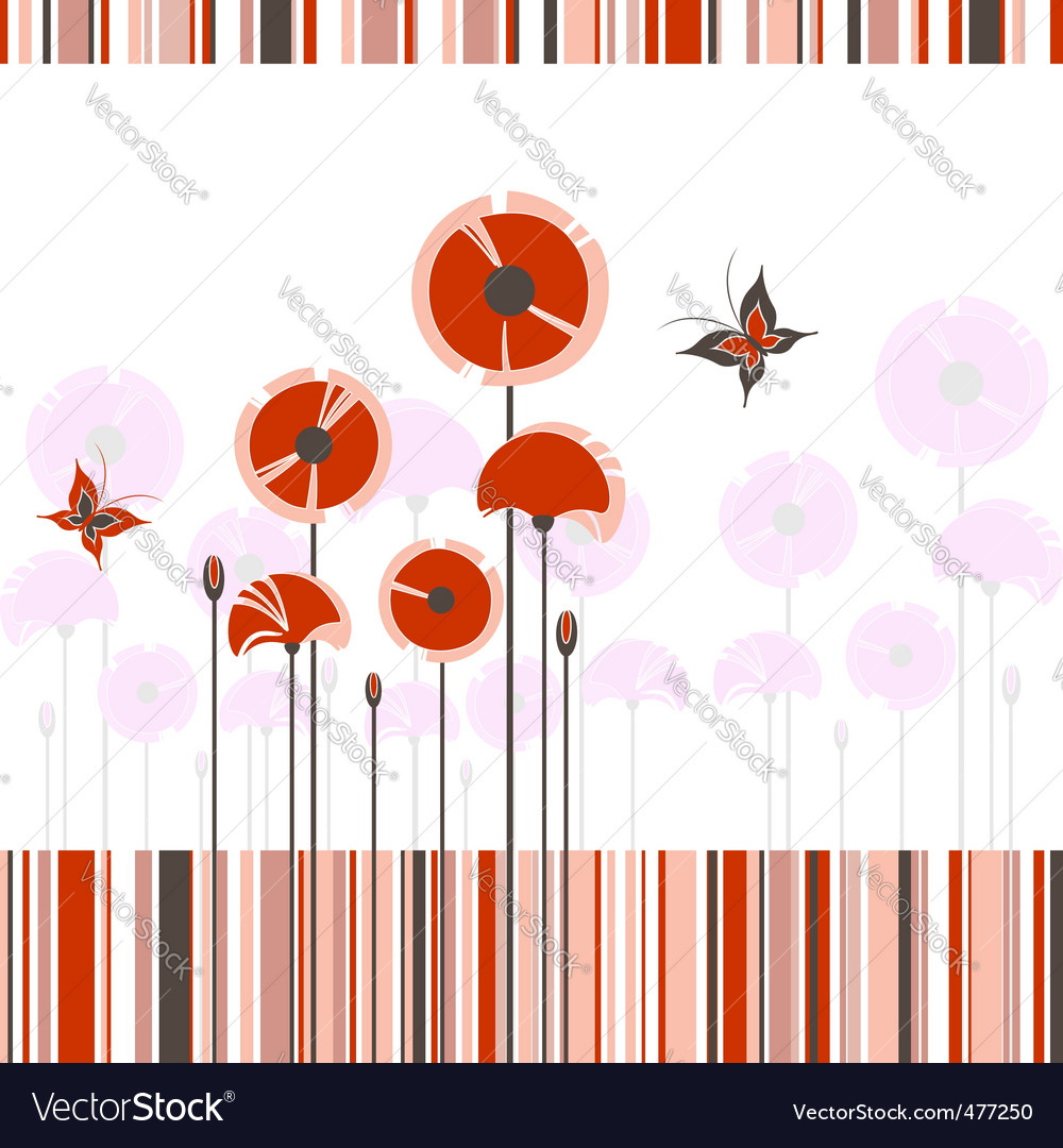 Poppy background vector | Price:  Credit (USD $)