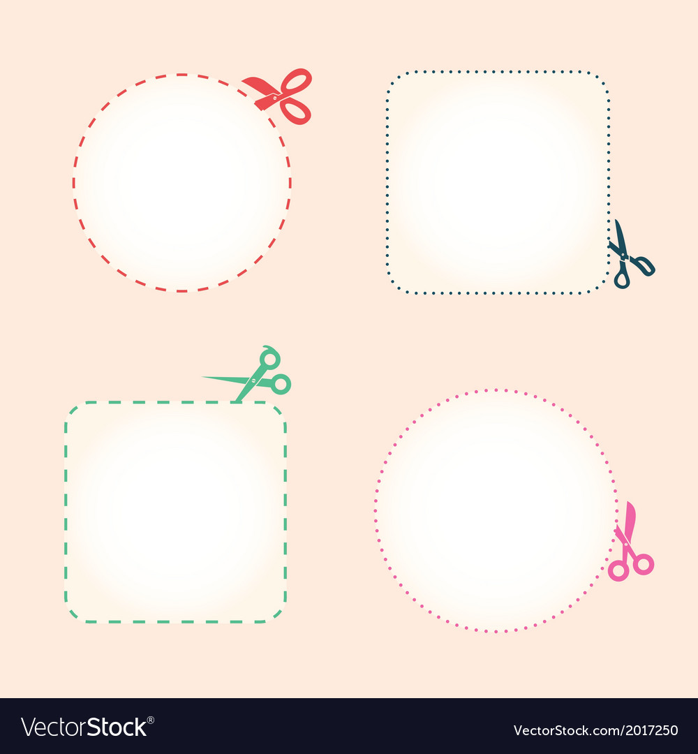 Set of cutting scissors vector | Price: 1 Credit (USD $1)