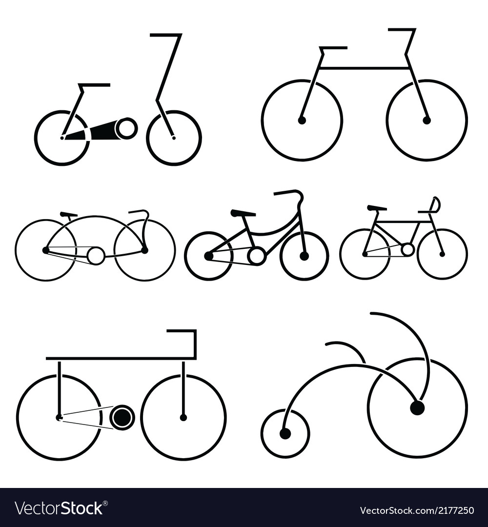 Silhouette of bicycle symbol vector | Price: 1 Credit (USD $1)