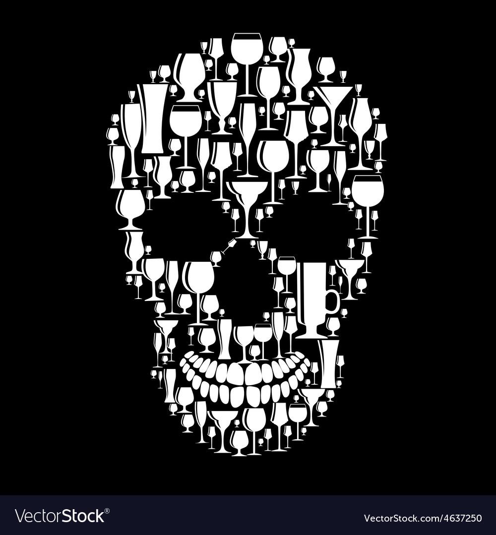 Skull sign vector | Price: 1 Credit (USD $1)