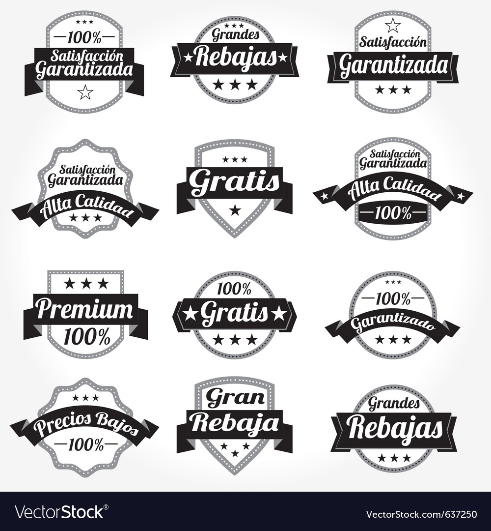 Spanish retro sales free labels vector | Price: 1 Credit (USD $1)
