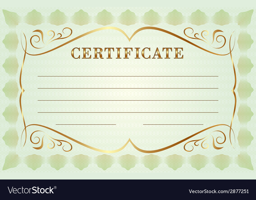 Abstract diploma template vector | Price: 1 Credit (USD $1)