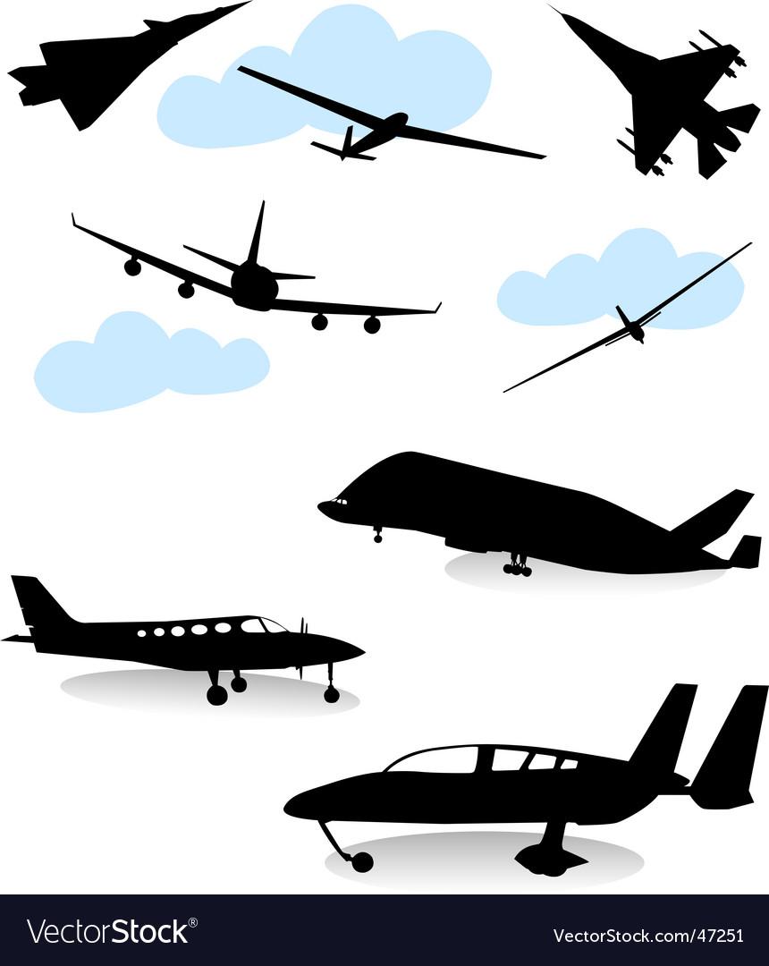 Airplane set vector | Price: 1 Credit (USD $1)