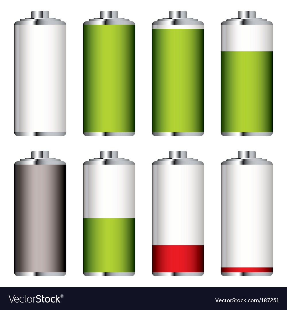 Battery levels set vector | Price: 1 Credit (USD $1)