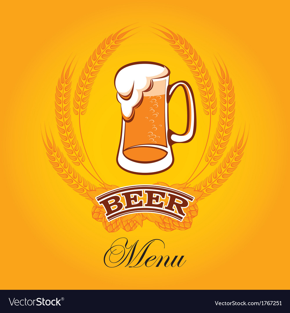 Beer menu mug vector | Price: 1 Credit (USD $1)
