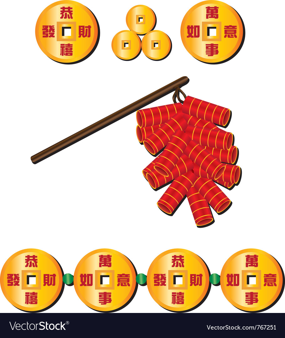 Chinese firecrackers vector | Price: 1 Credit (USD $1)