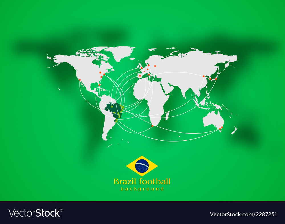 Concept air traffic design brazilian colors vector | Price: 1 Credit (USD $1)