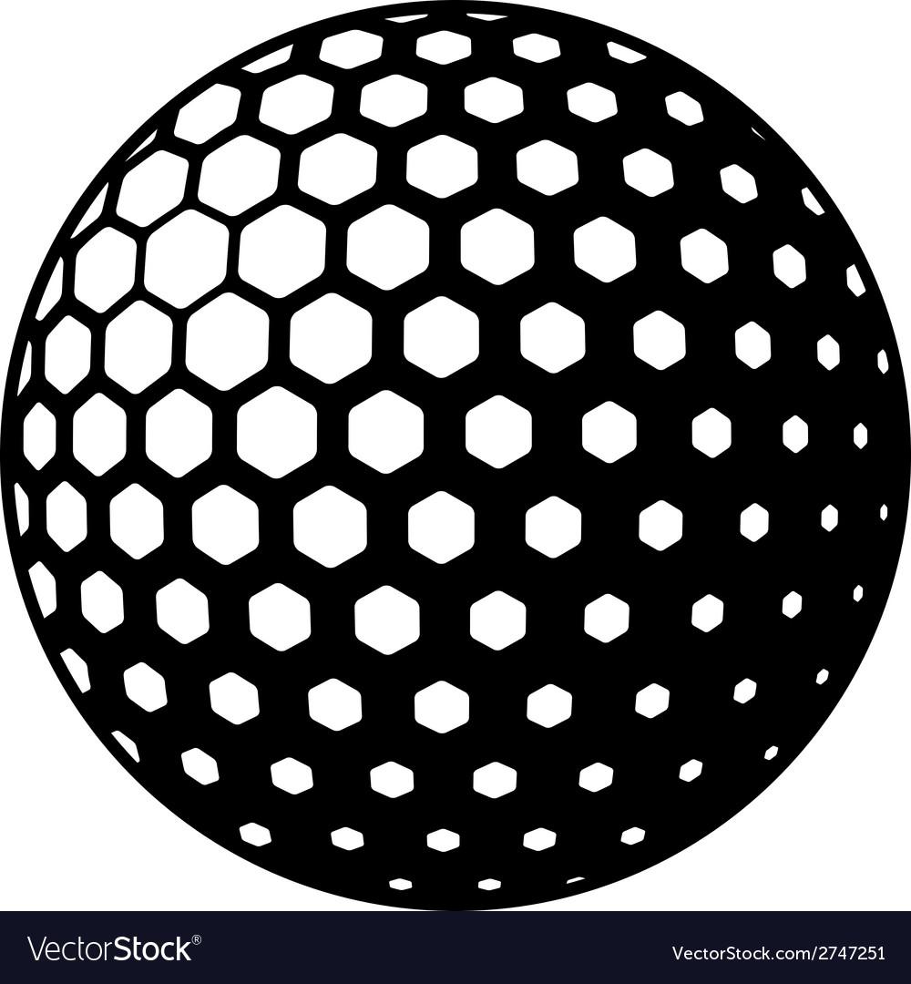 Golf ball symbol vector | Price: 1 Credit (USD $1)