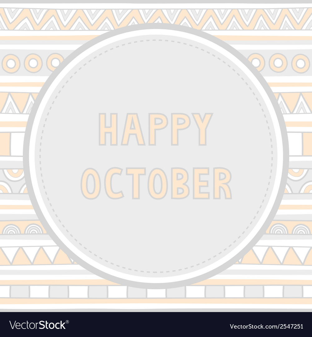 Happy october background1 vector | Price: 1 Credit (USD $1)