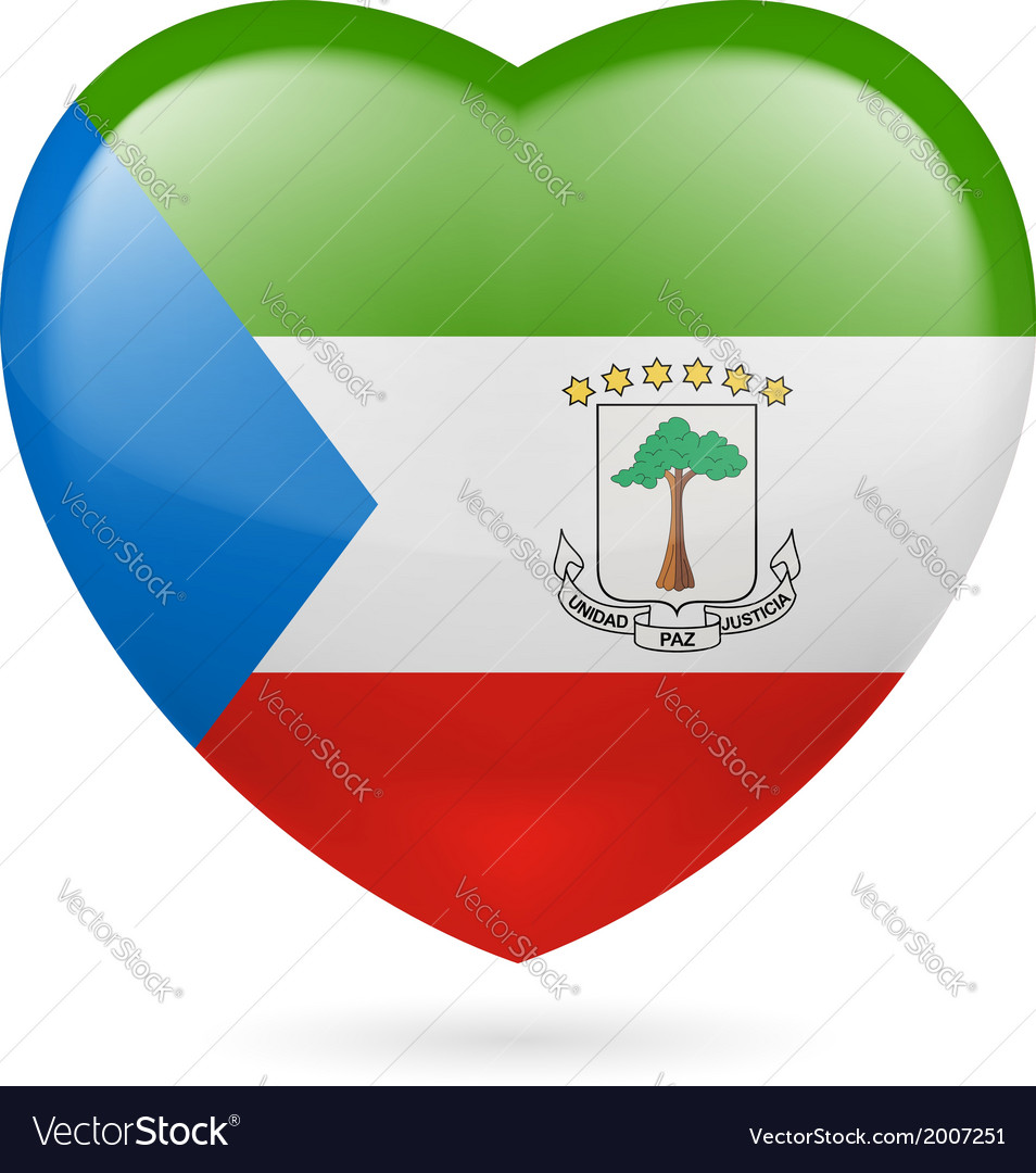 Heart icon of equatorial guinea vector | Price: 1 Credit (USD $1)