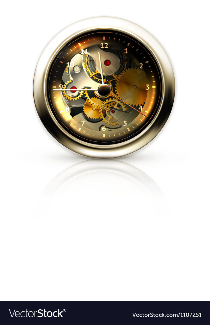Mechanical clock vector | Price: 3 Credit (USD $3)