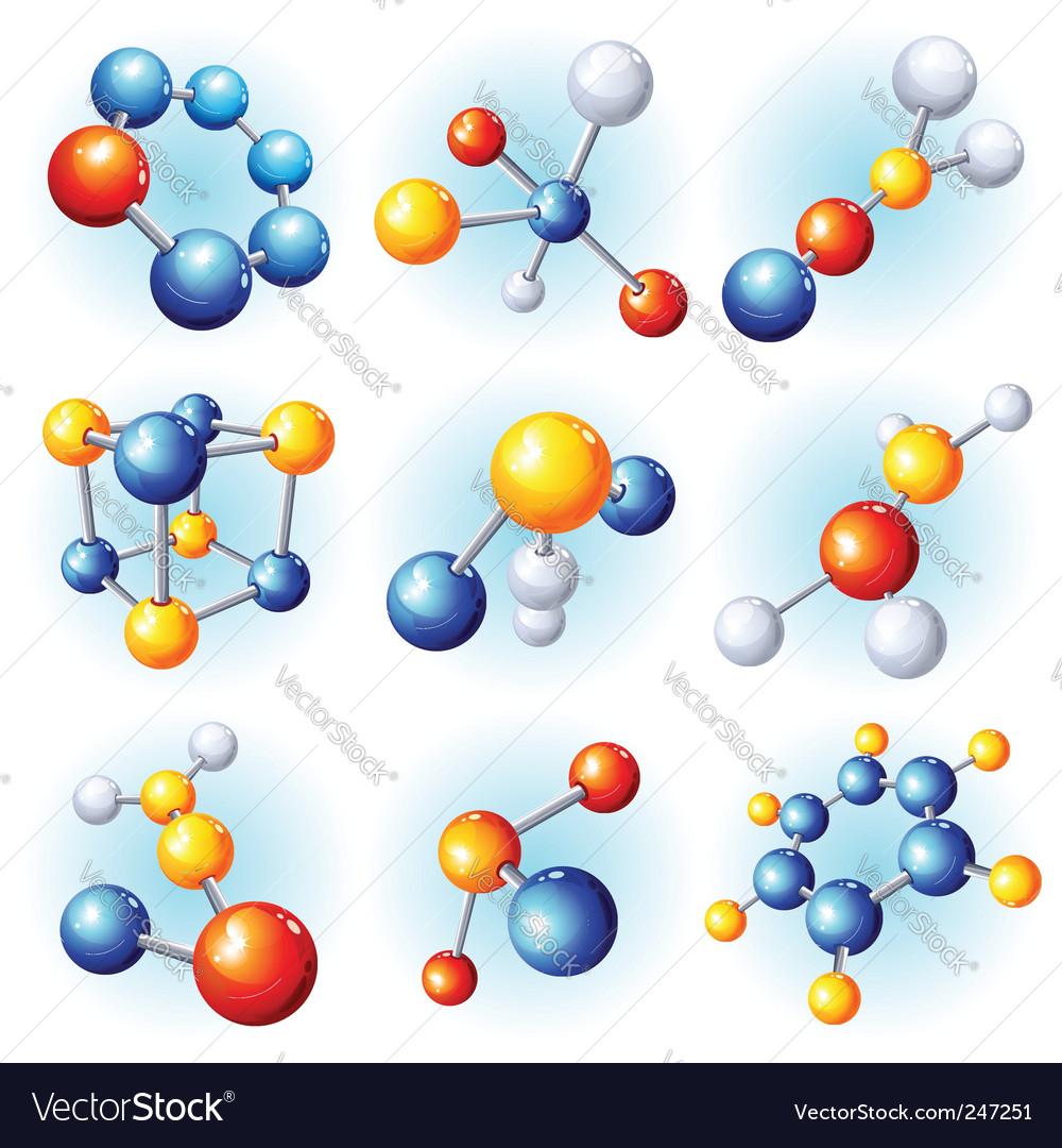 Molecule icons vector | Price: 1 Credit (USD $1)