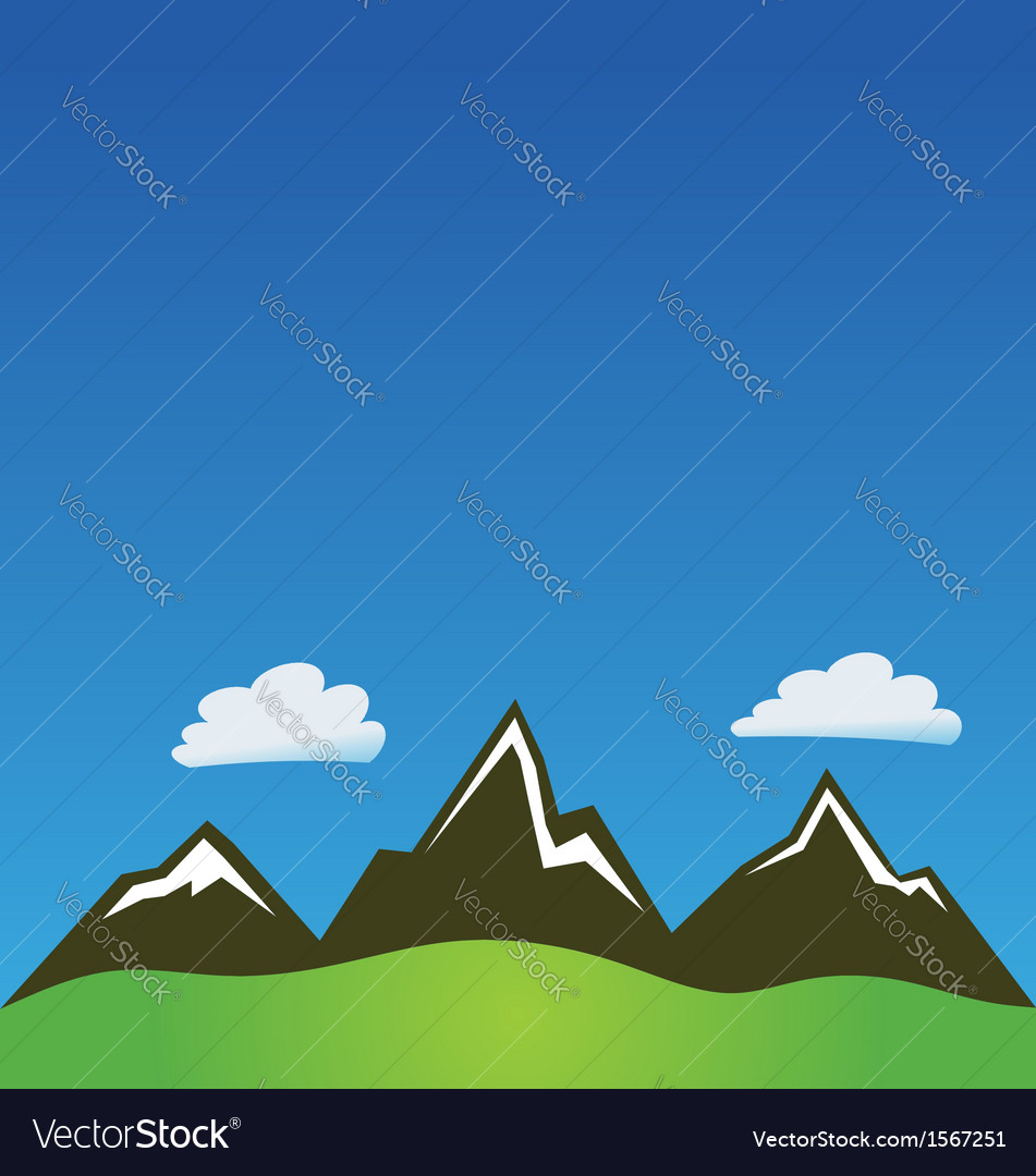 Mountain clouds background vector | Price: 1 Credit (USD $1)