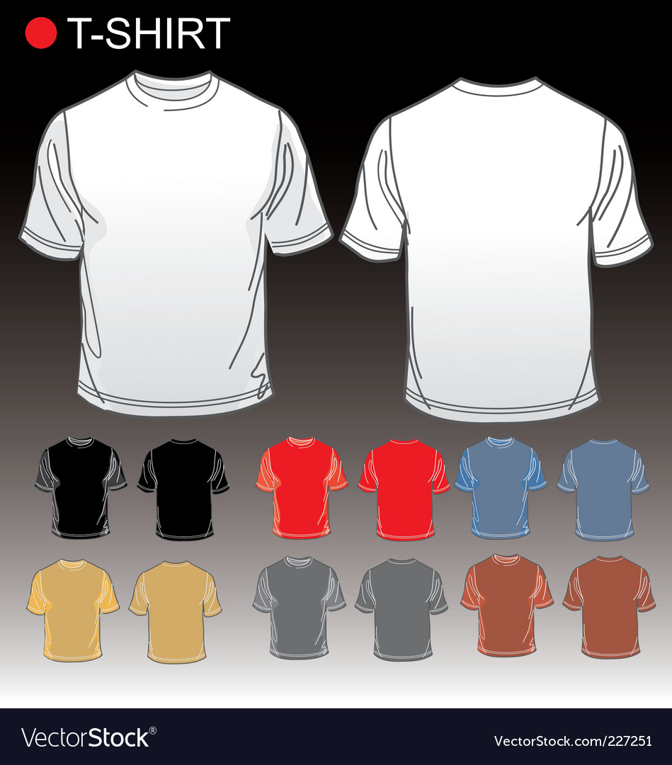 Set of blank tshirts vector | Price: 1 Credit (USD $1)
