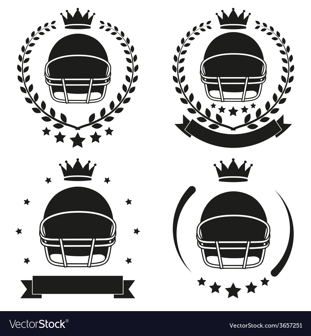 Set of vintage football club badge and label vector | Price: 1 Credit (USD $1)