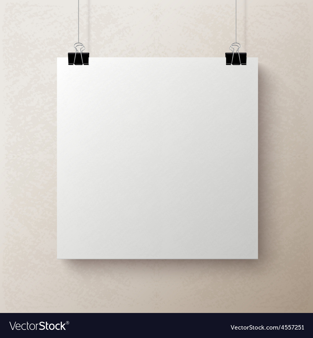 White blank square sheet of paper template vector | Price: 1 Credit (USD $1)