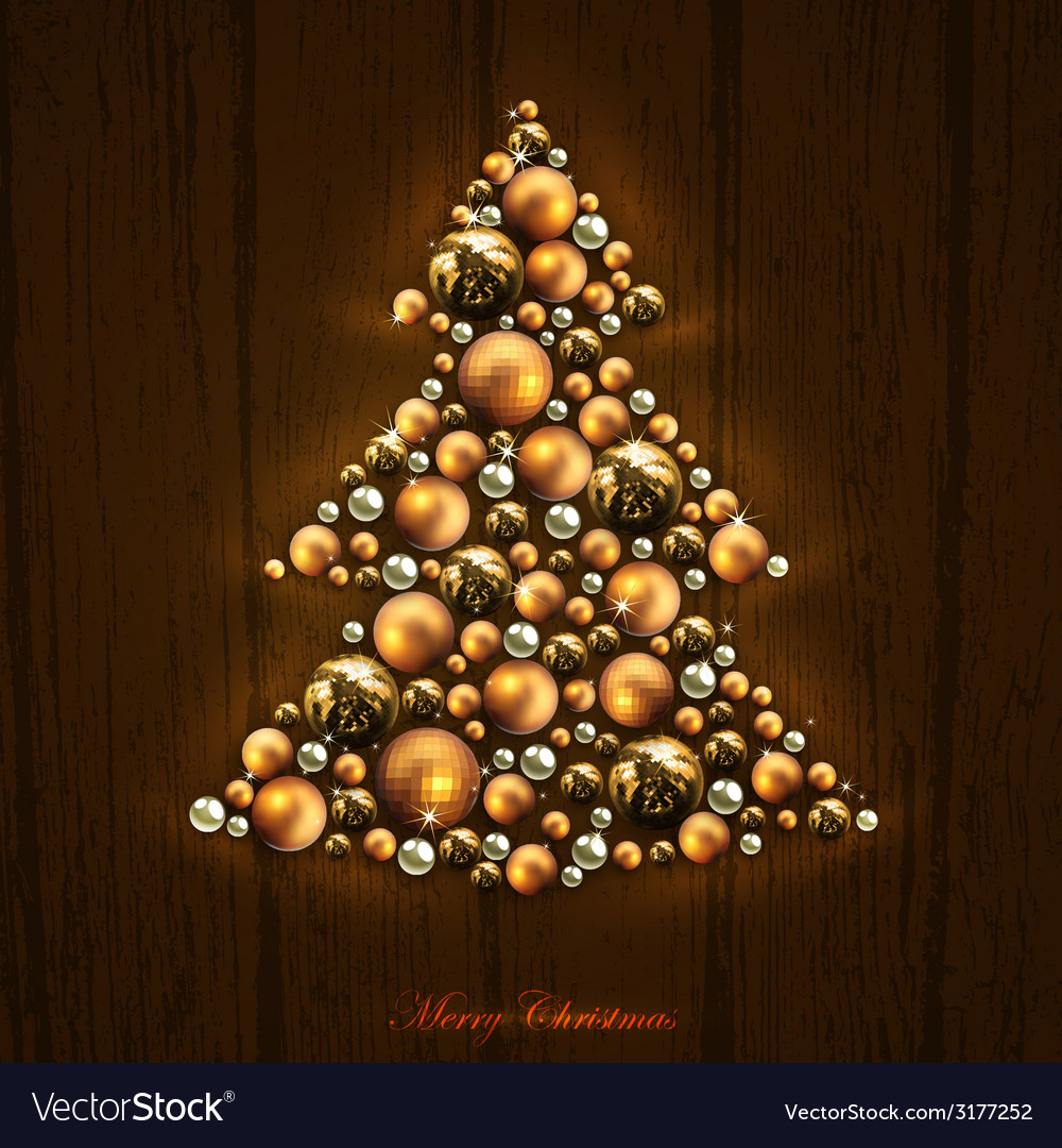 Christmas tree design vector | Price: 3 Credit (USD $3)