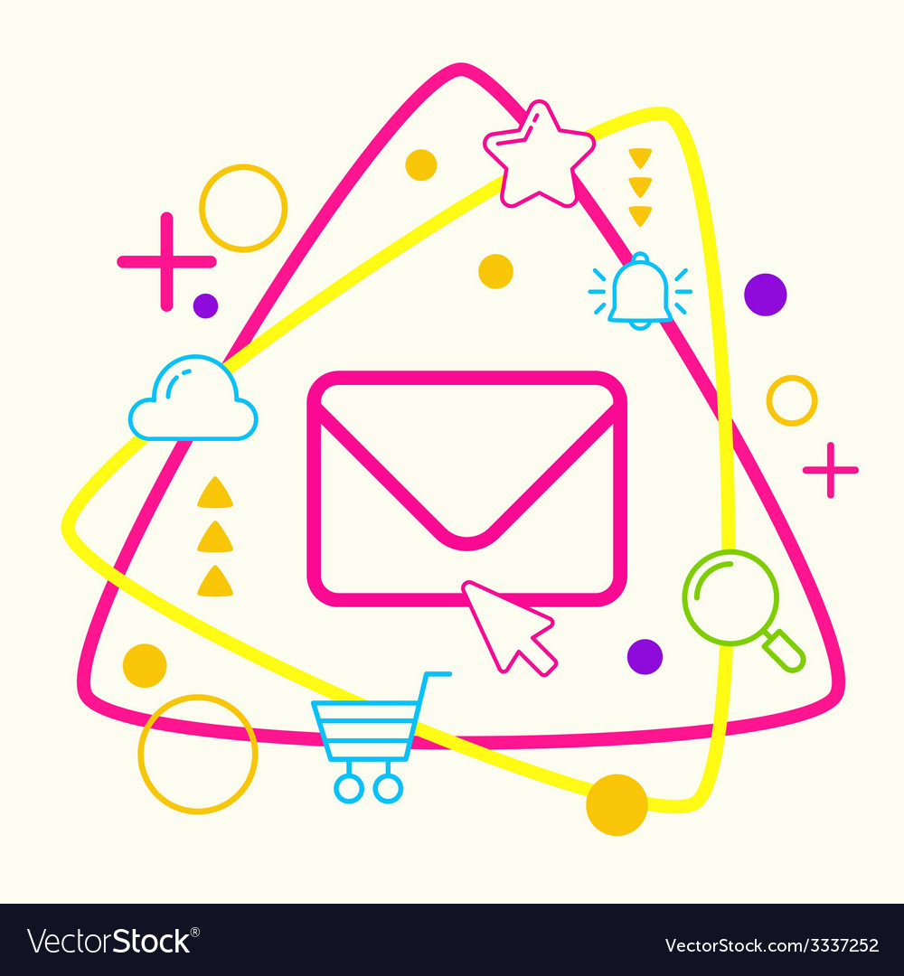 Envelope on abstract colorful geometric light vector | Price: 3 Credit (USD $3)