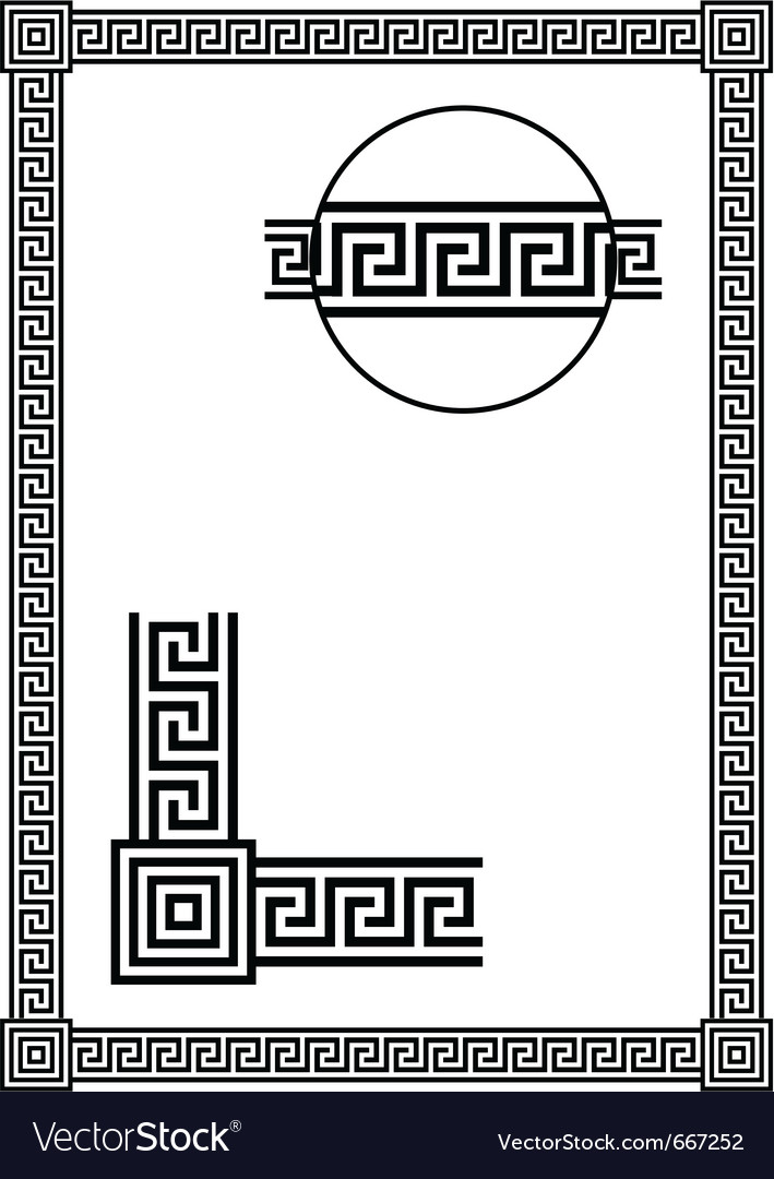 Frame with ancient greek meander pattern vector | Price: 1 Credit (USD $1)