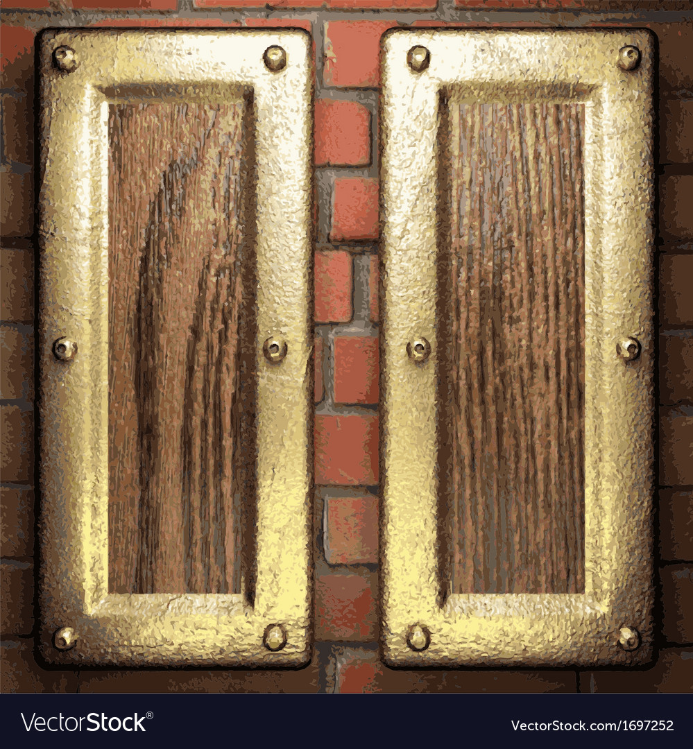Gold on brick background vector | Price: 1 Credit (USD $1)
