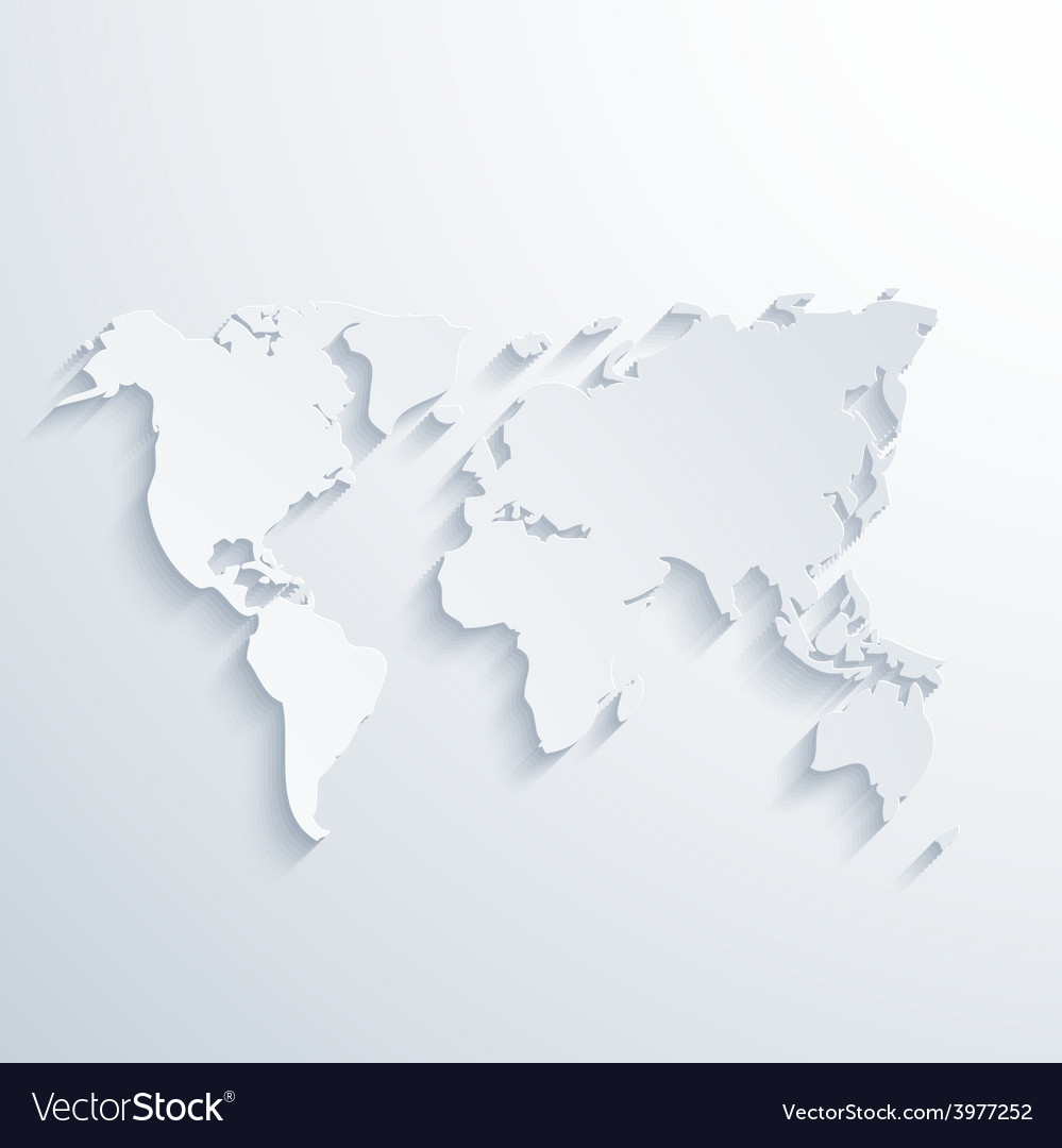 Modern map with long shadow vector | Price: 1 Credit (USD $1)