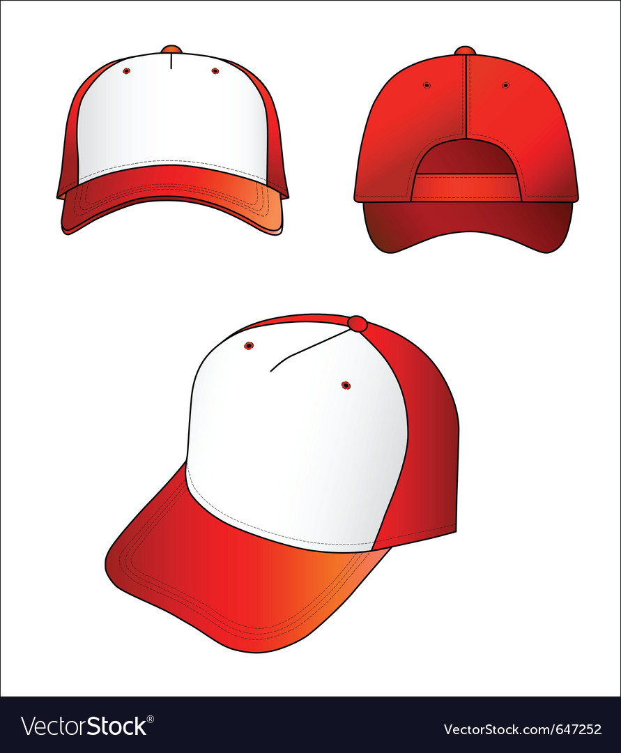 Red-white cap vector | Price: 1 Credit (USD $1)