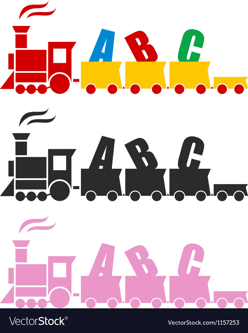 Beautiful toy train vector | Price: 1 Credit (USD $1)
