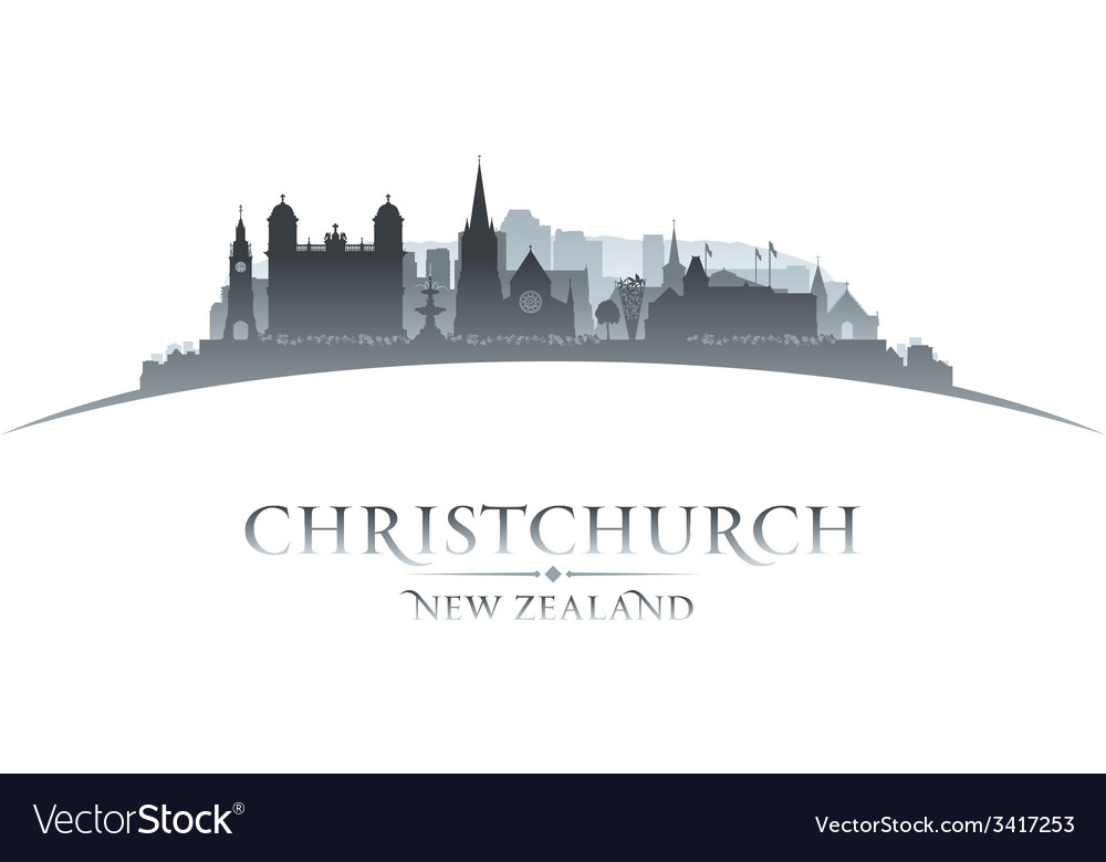Christchurch new zealand city skyline silhouette vector | Price: 1 Credit (USD $1)