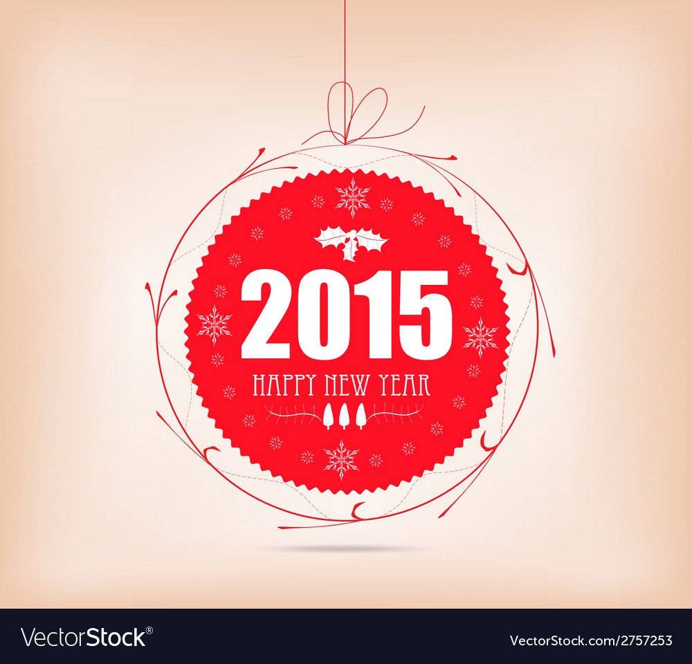 Christmas and happy new year label card vector | Price: 1 Credit (USD $1)