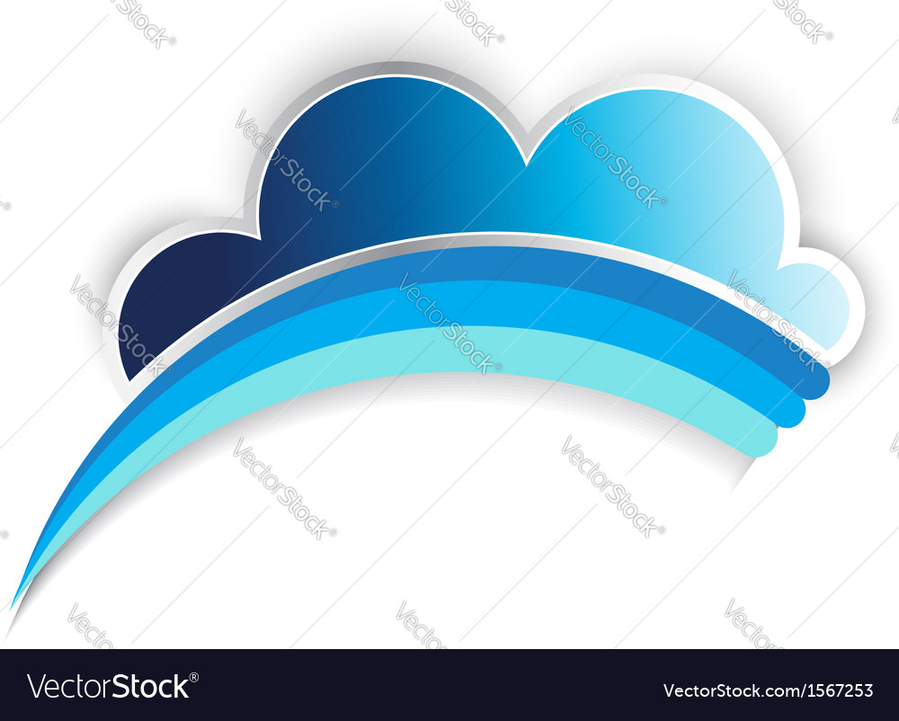 Cloud rainbow vector | Price: 1 Credit (USD $1)