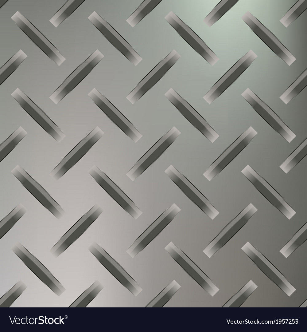 Diamond plated seamless metal sheet vector | Price: 1 Credit (USD $1)