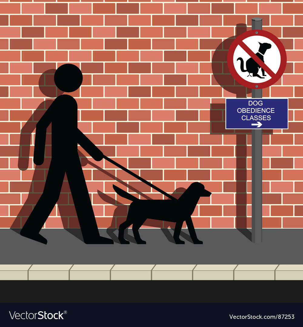 Dog obedience classes vector | Price: 1 Credit (USD $1)