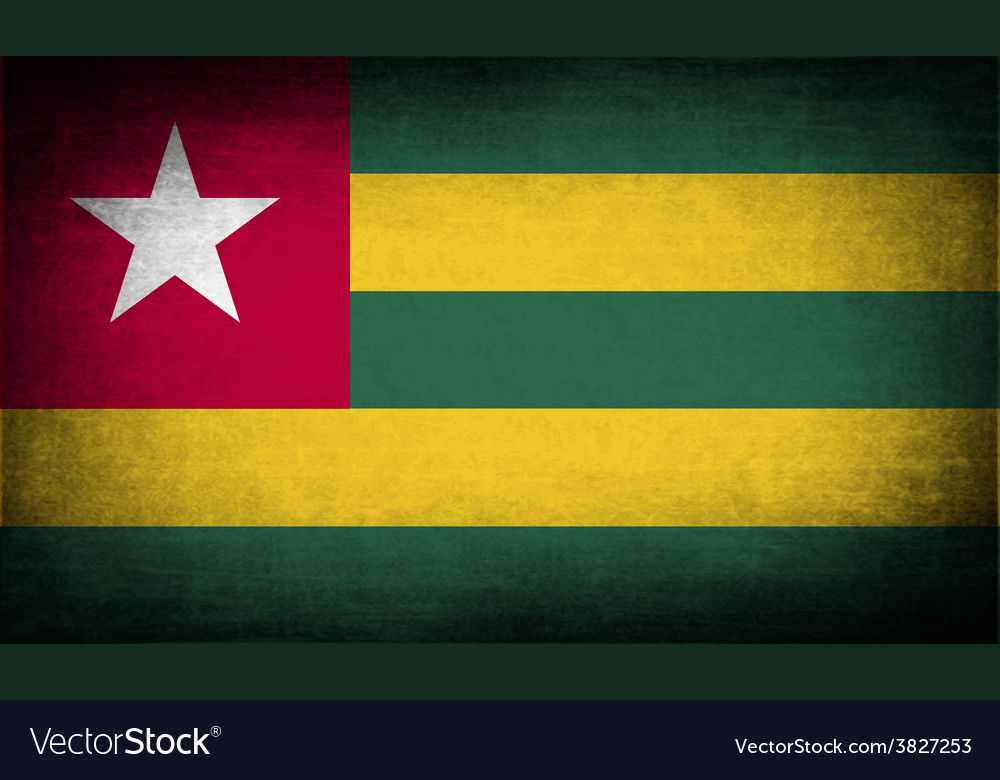 Flag of togo with old texture vector | Price: 1 Credit (USD $1)