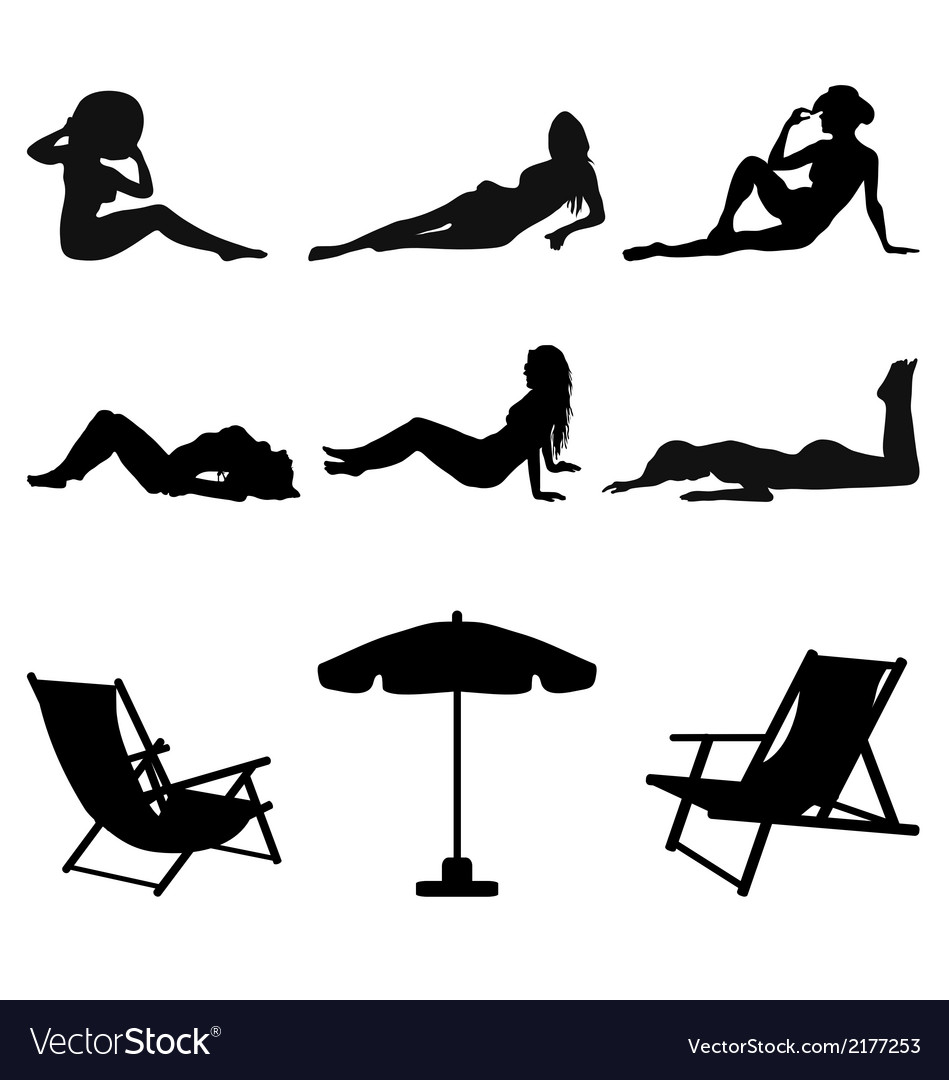 Girls on the beach vector | Price: 1 Credit (USD $1)