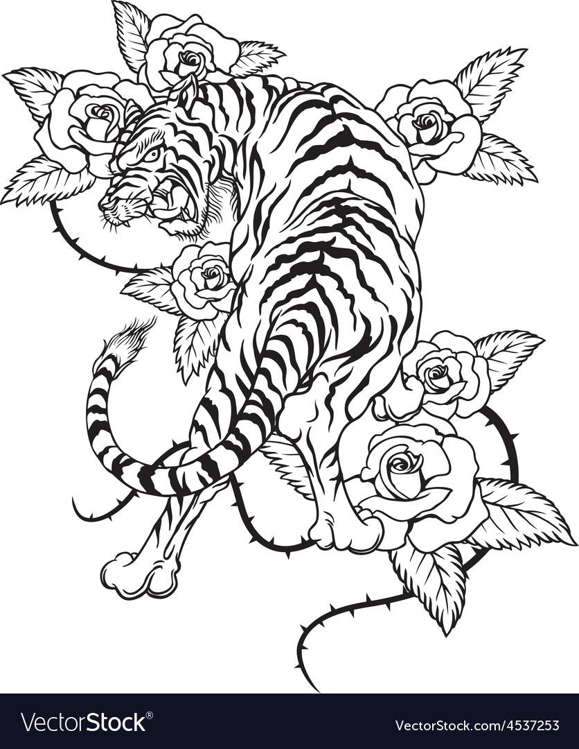 Tiger-tattoo vector | Price: 1 Credit (USD $1)