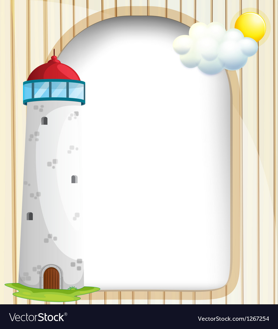 An empty template at the back of a tower vector | Price: 1 Credit (USD $1)