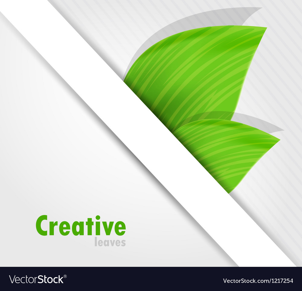 Background with leaves vector | Price: 1 Credit (USD $1)