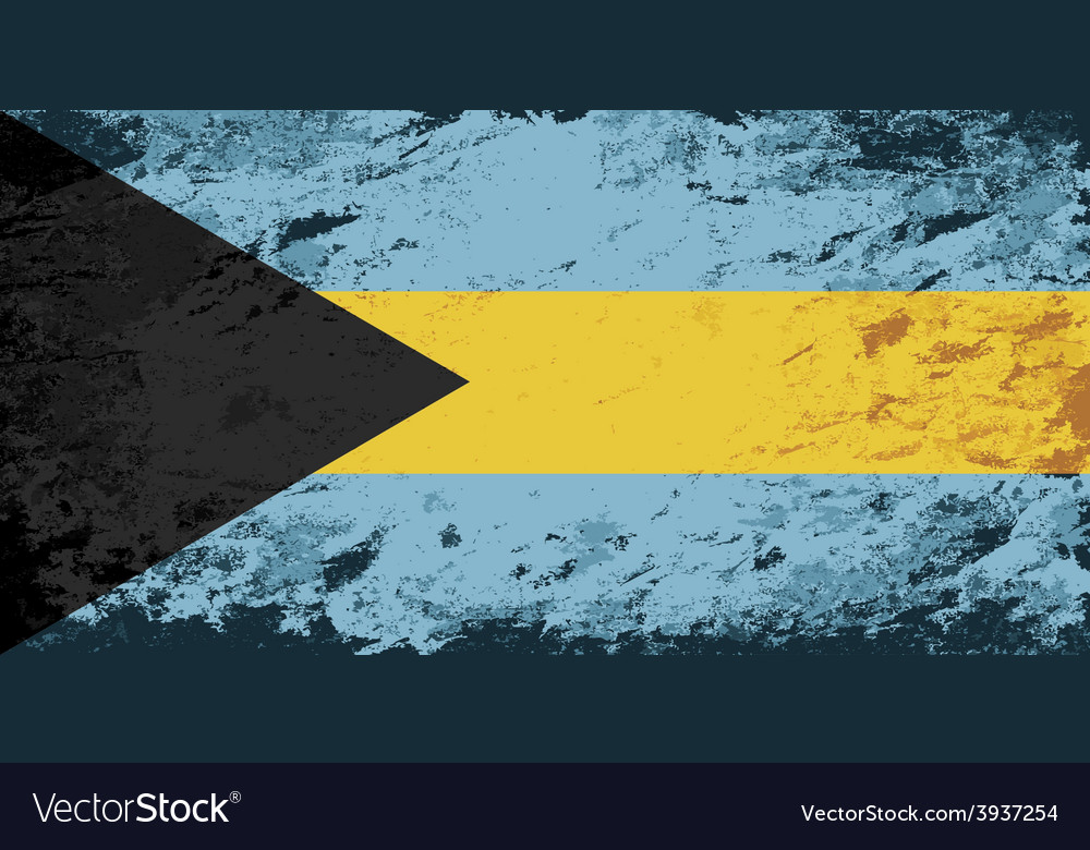 Bahamas flag grunge background vector | Price: 1 Credit (USD $1)