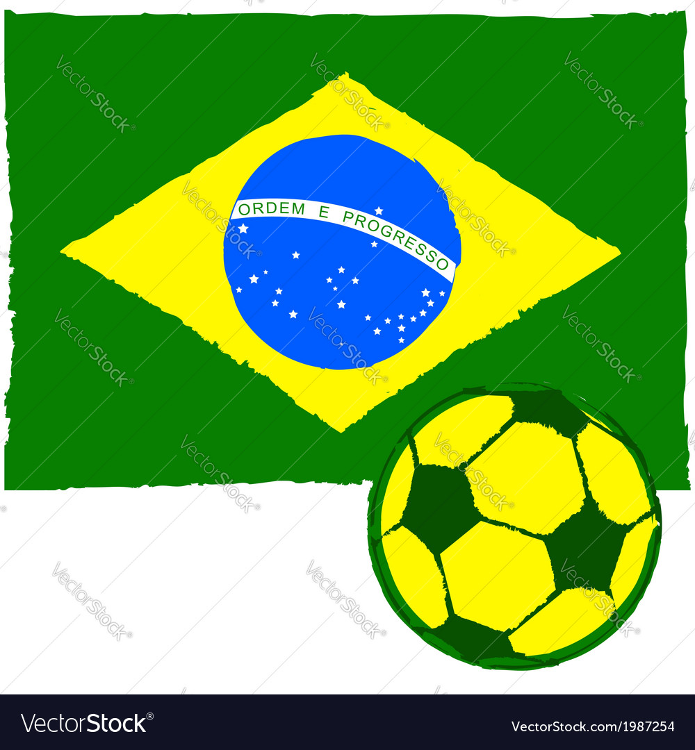 Brazil soccer vector | Price: 1 Credit (USD $1)