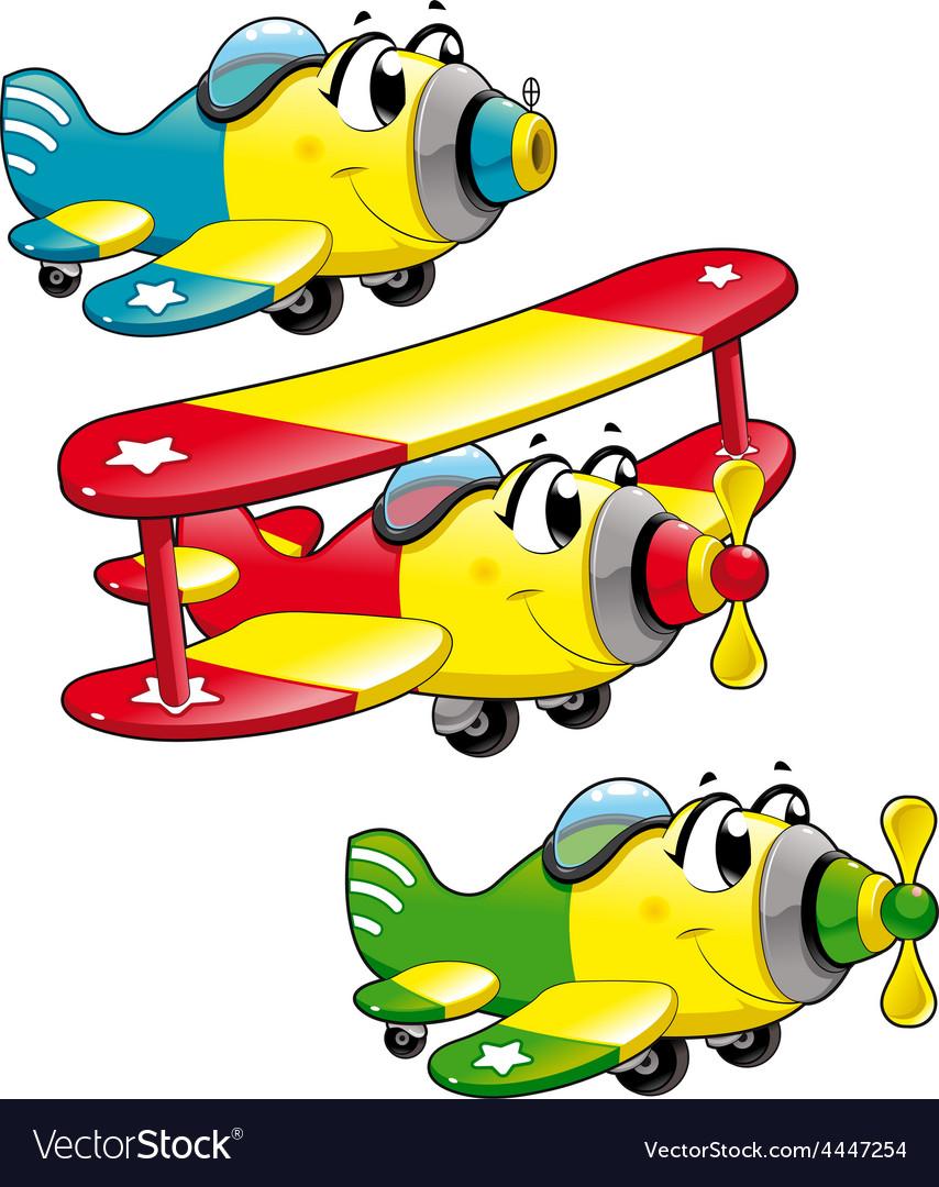 Cartoon airplanes vector | Price: 1 Credit (USD $1)