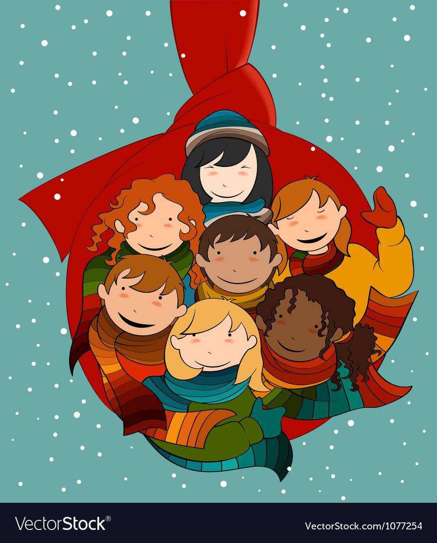 Christmas ball called hug vector | Price: 3 Credit (USD $3)