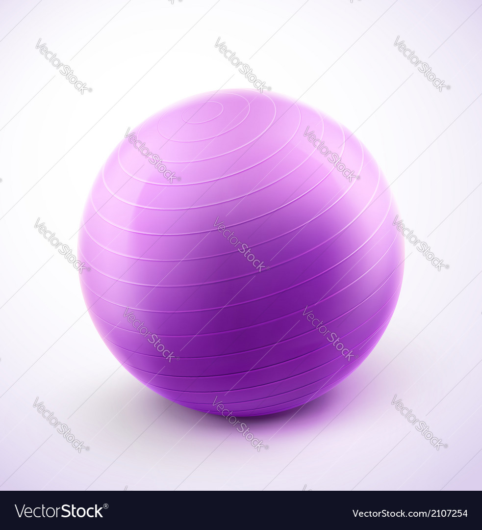 Fitness ball vector | Price: 1 Credit (USD $1)