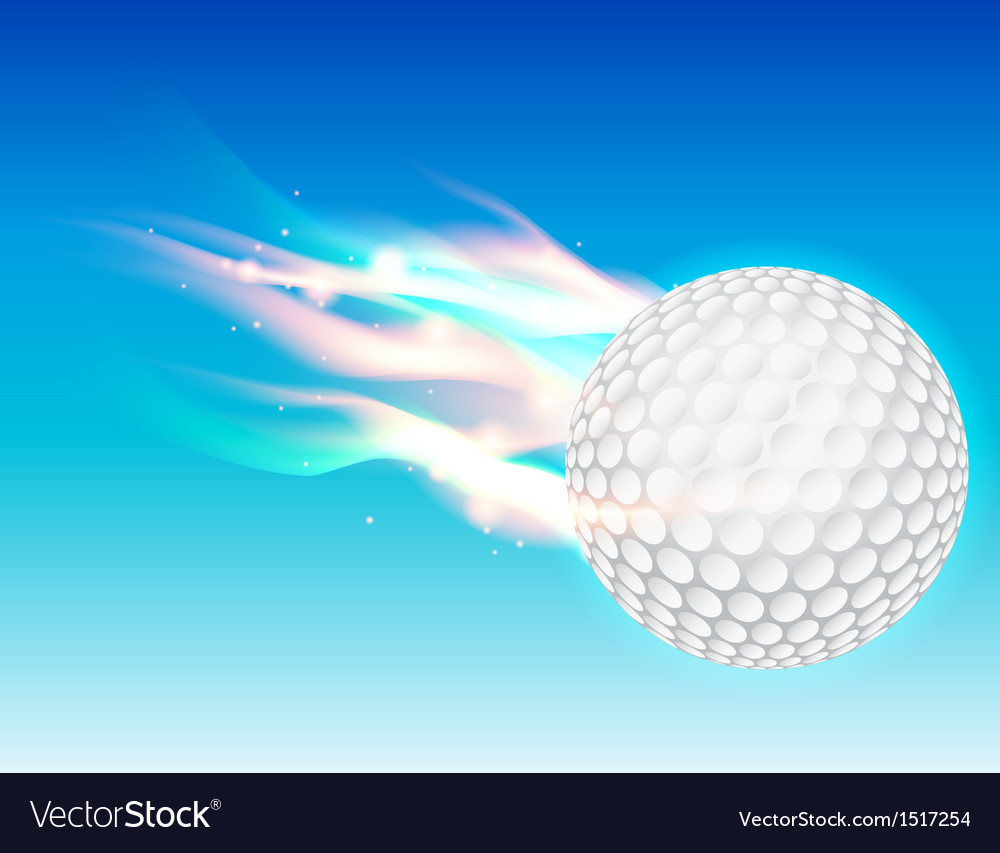 Flaming golf ball vector | Price: 1 Credit (USD $1)