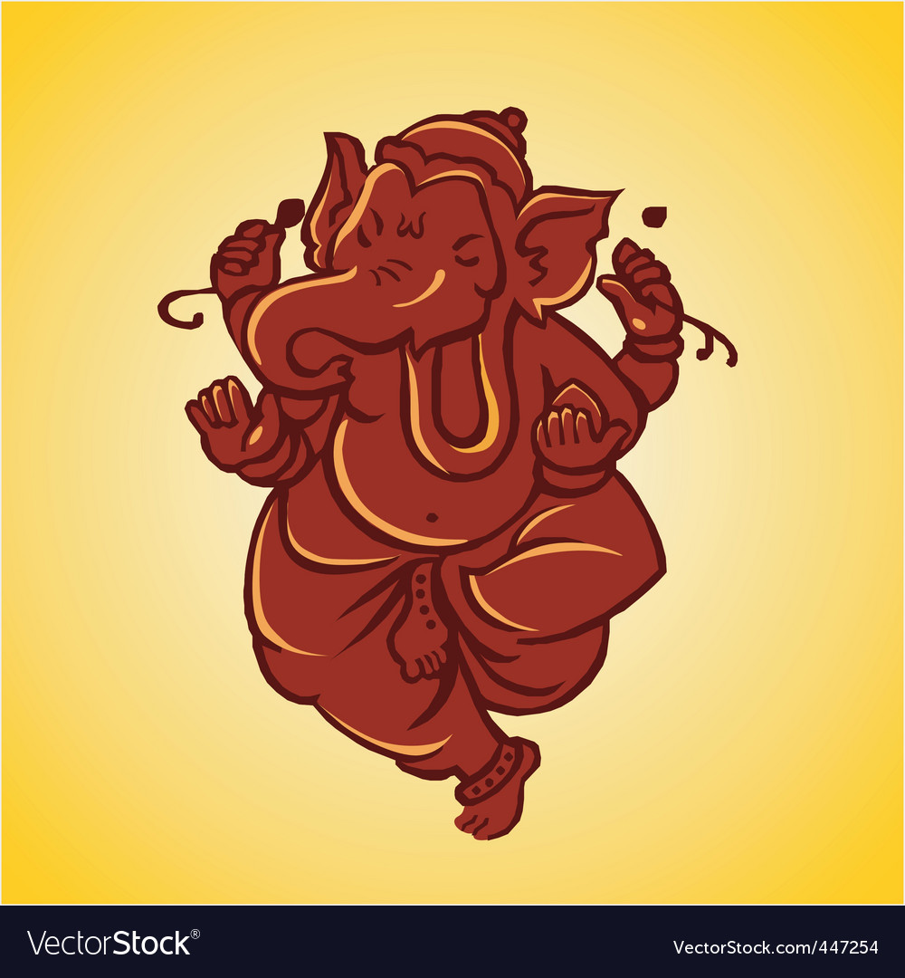 Ganesh sculpture vector | Price: 1 Credit (USD $1)
