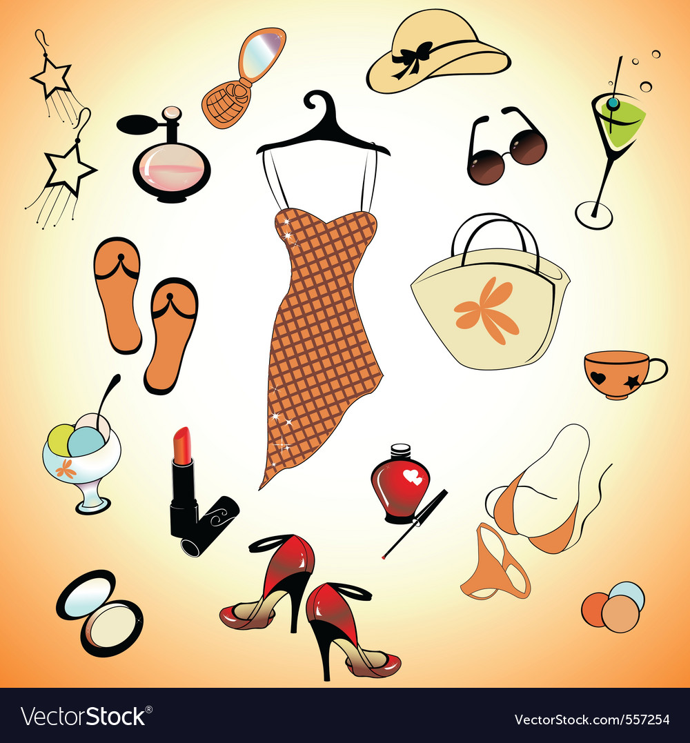 Glamour summer lifestyle vector | Price: 1 Credit (USD $1)