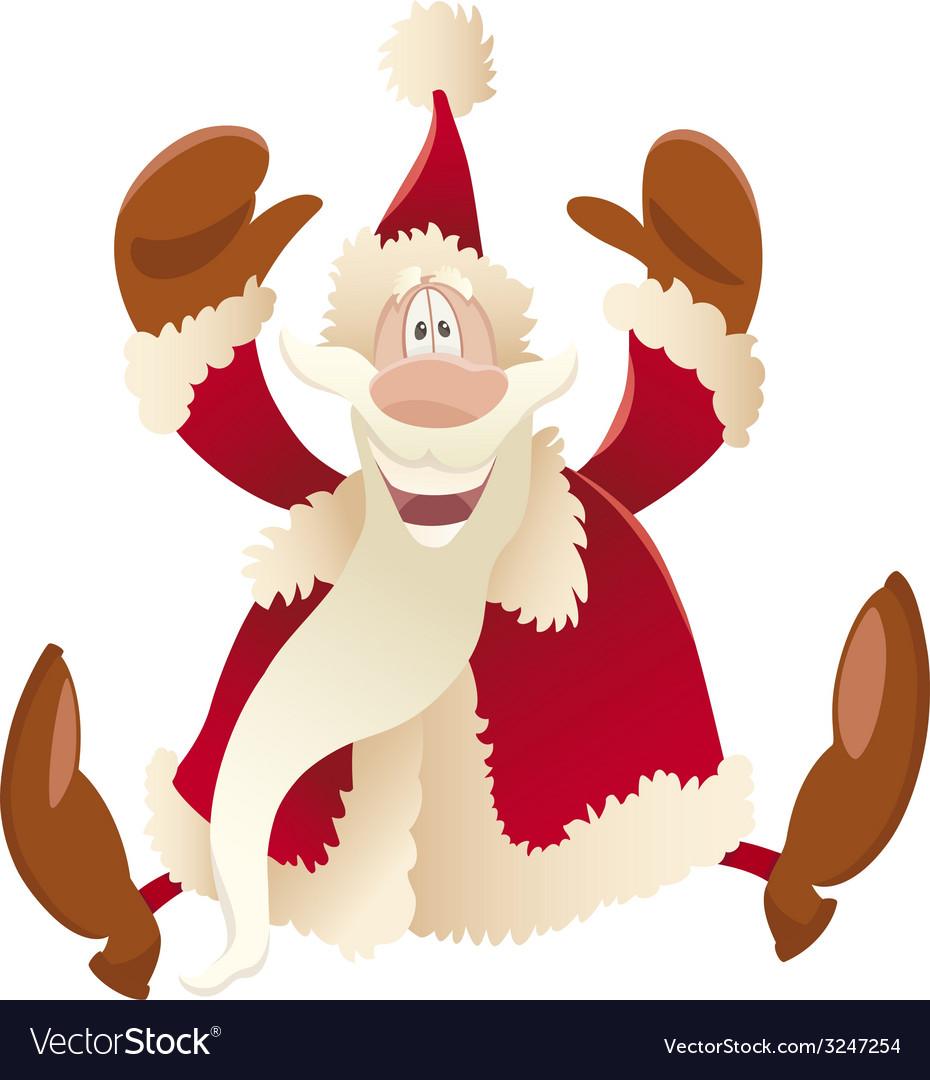 Happy santa claus cartoon vector | Price: 1 Credit (USD $1)