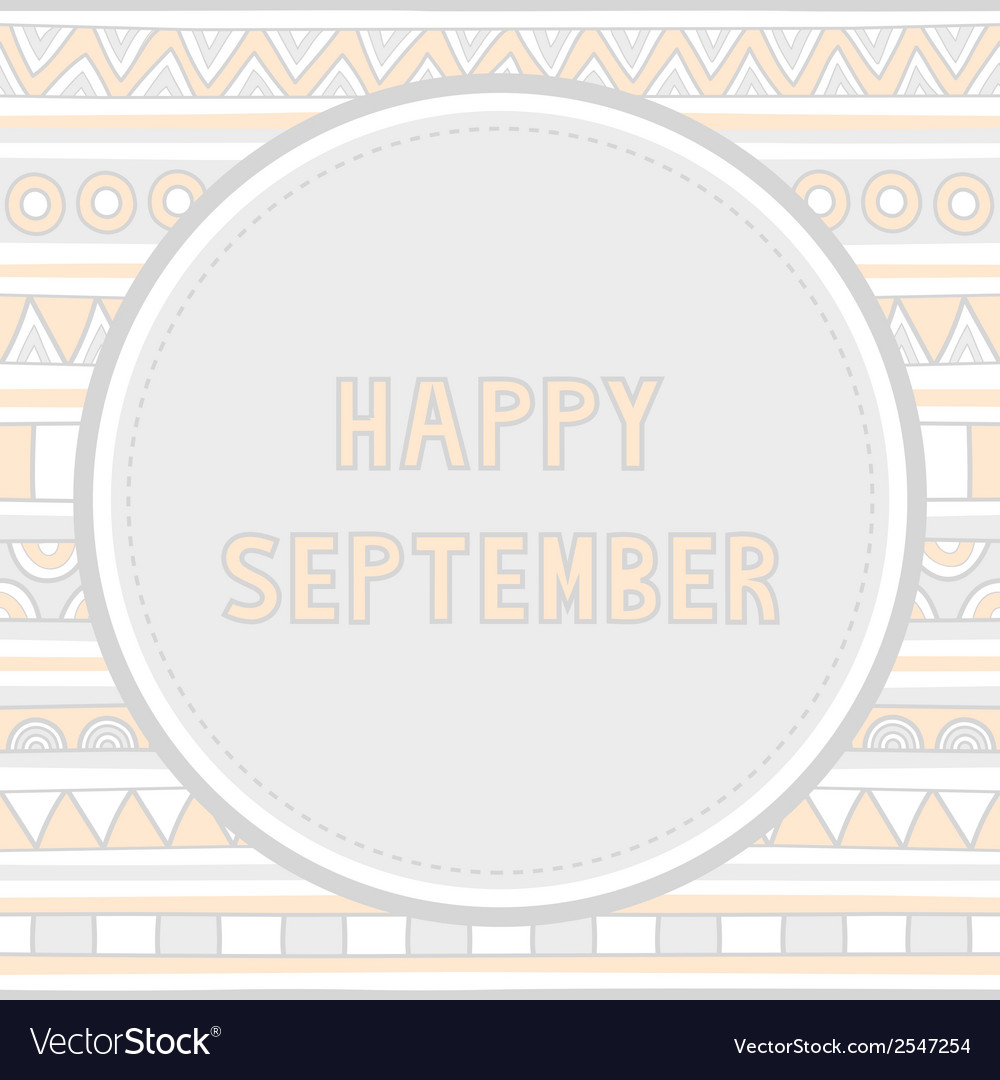Happy september background1 vector | Price: 1 Credit (USD $1)