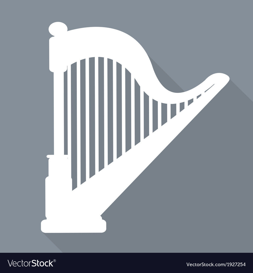 Harp icon msic instruments vector | Price: 1 Credit (USD $1)