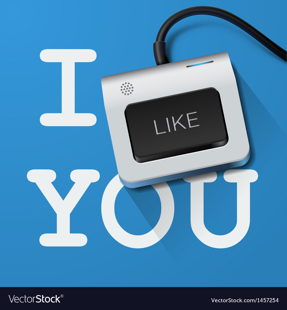 I like you with keyboard key vector | Price: 1 Credit (USD $1)